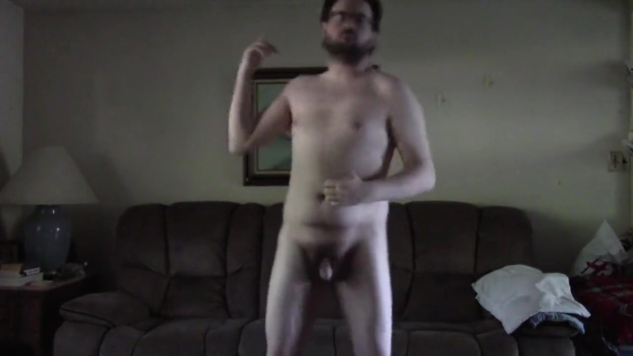 Nerdy Guy Strips and Dances Naked Big tits latina hairy pussy
