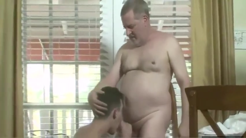 Separated by age but united by sex Sexy mature bear cums
