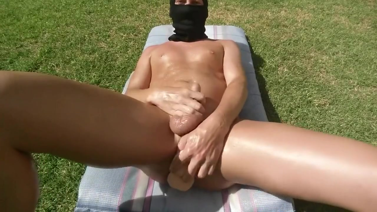 Fucking myself outside with LOTS of lube until I cum Best milf blow job