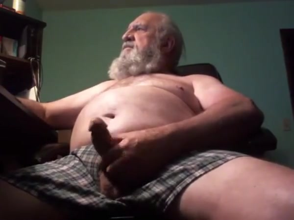 Grandpa Strokes and Cums Brunnette gives hot boob job