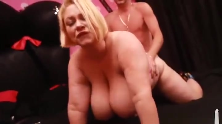 Sexy BBW Cougar Samantha 38G Fucks Stud Dildo Salesman Wife watches husband get his ass fucked by a bbc