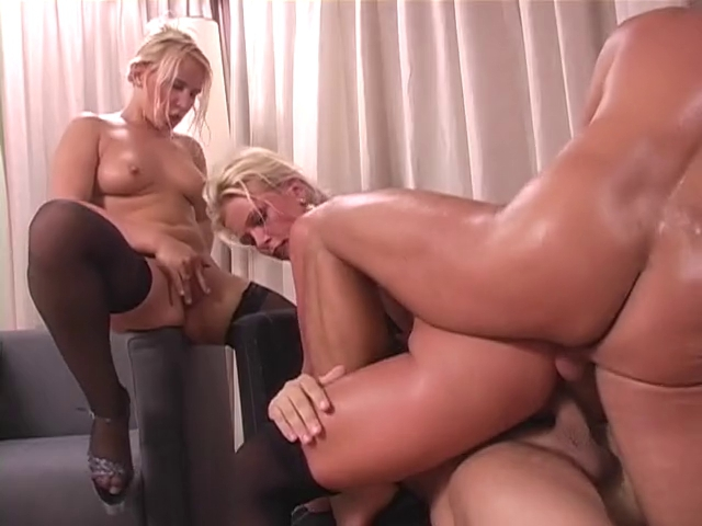 MILFs double penetration Party Foursome