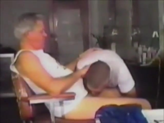 Silver Daddies in a Barbershop Sex with ex wife