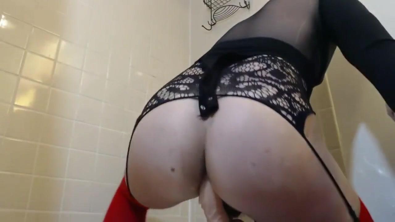 Bubble butt femboy riding big dildo Porn interfemoral pantyhose