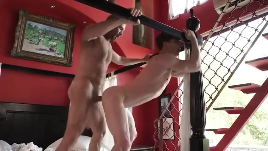 Hairy muscle daddy has intense sex with a hot young jock Mikesmilf 2