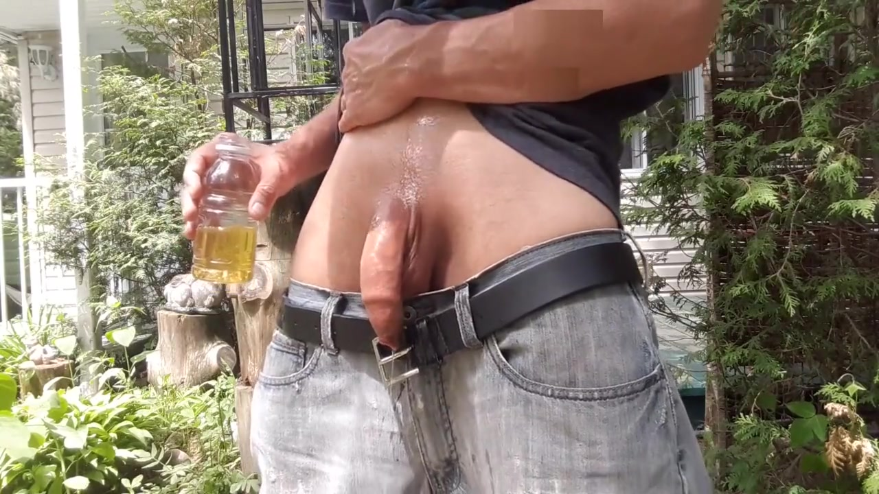 Piss in a bottle outside and drink some of my piss #7 Sexual licking video clips
