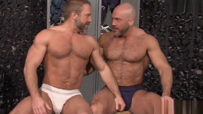 Muscle jock fetish with cumshot hot kissing couple image