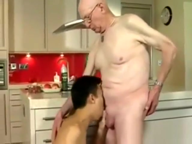 Asian Boy and his old Daddy Free picture hunter