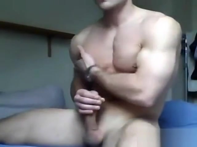 young smooth muscle guy jerks on cam Hot titty sex