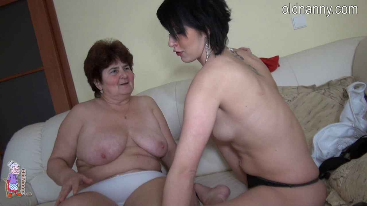Granny and juvenile gal girl jump roping nude