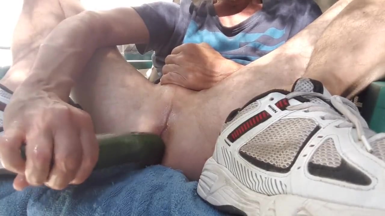 Zucchini fuck outdoor on my patio #1 british daddy gay porn