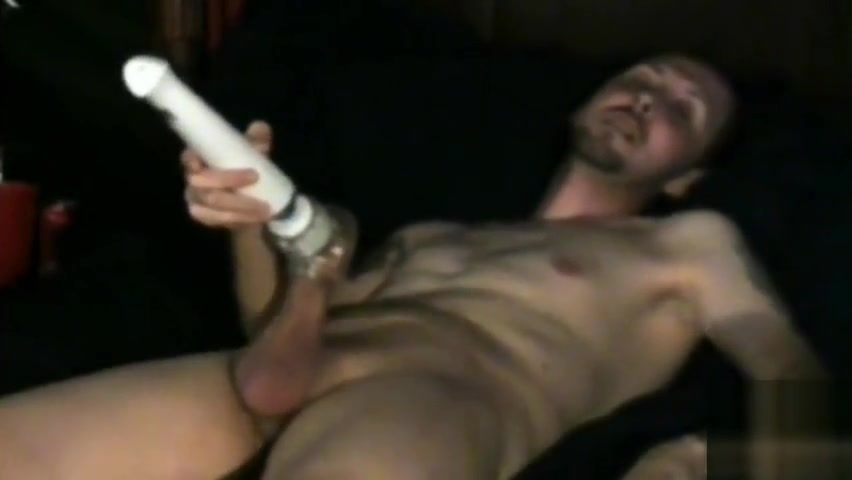 Spike D Masturbating with hitachi naked boys jacking off