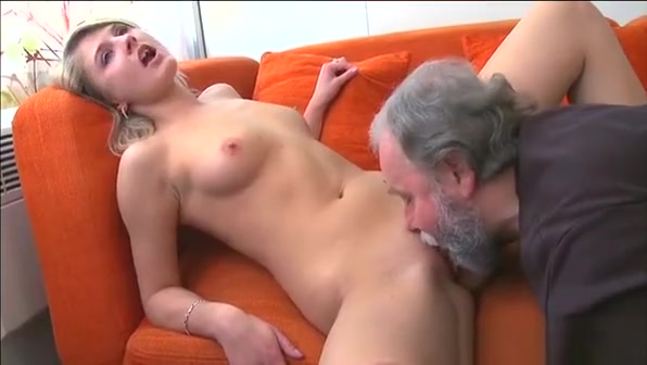Lovely Looking Young Chick Takes In Throat Old Rod