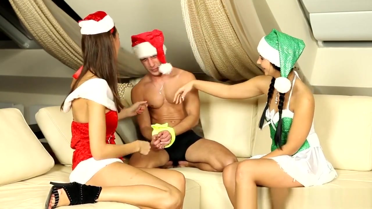 Christmas Party Teens Dominating Cock In Trio Sxs Lncest