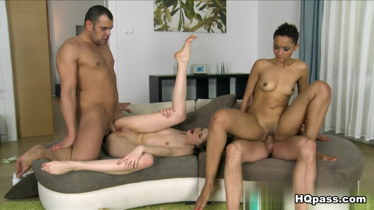 Tony, Victor Solo, Anna Taylor, Halona Vog in Shades of pink Scene