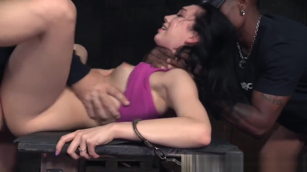Cuffed Bdsm Sub Pounded In Interracial Trio Wifes assholes suck penis on beach