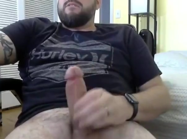 Bearded daddy jerks off Fishy penis smell after intercourse