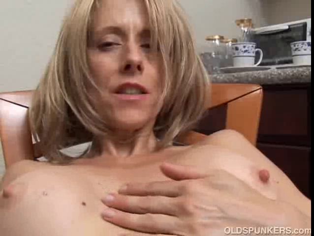 Excited aged honey with large teats rubs her moist vagina for Booty Clap Ebony