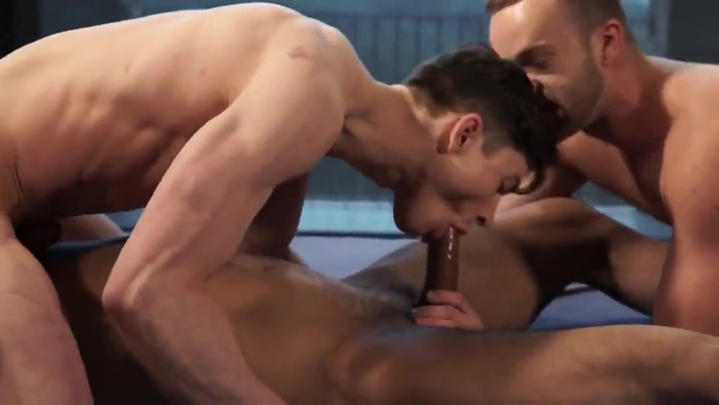 Threesome straight men gay sex porn