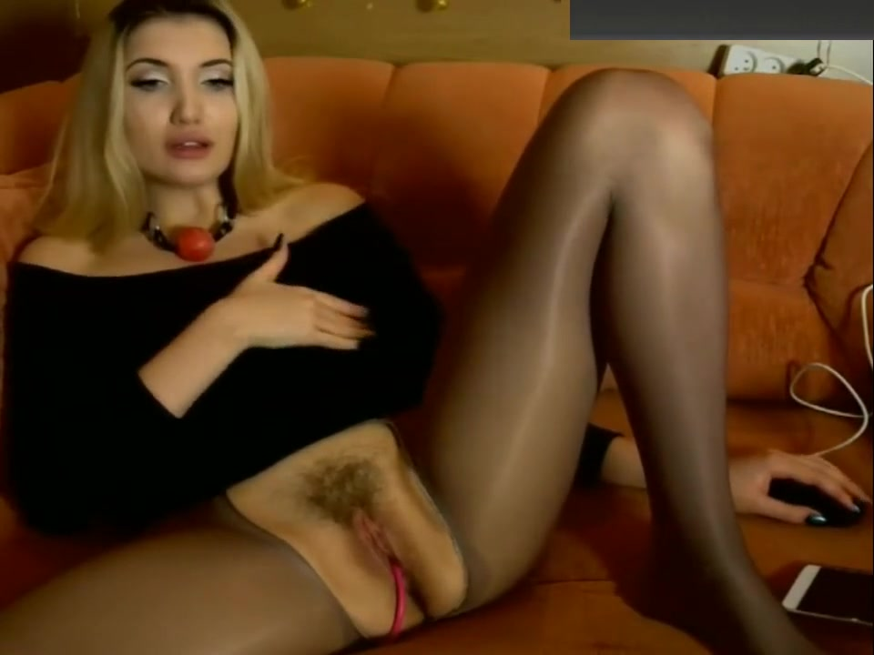 Blonde Woman In Pantyhose With Cut Hole Fucks Her Pussy hot actress first night