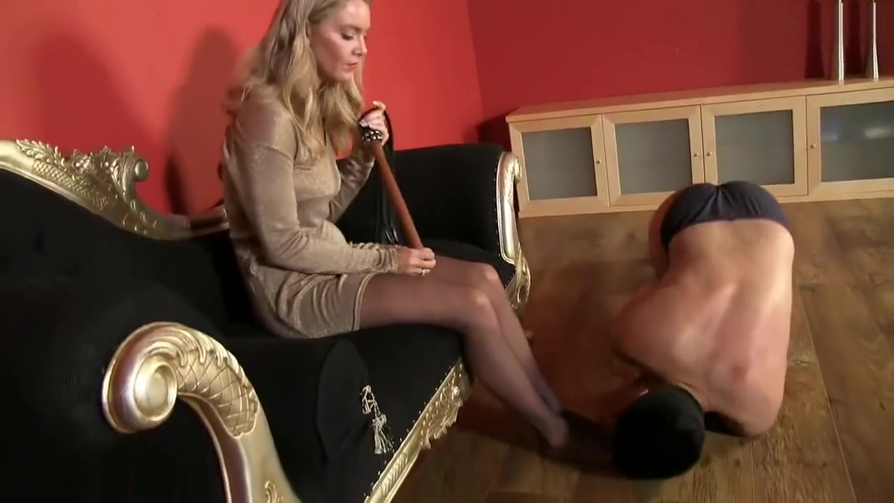 mistress sky crush slave dignity and robs all his money and kick his balls Male hands free cum