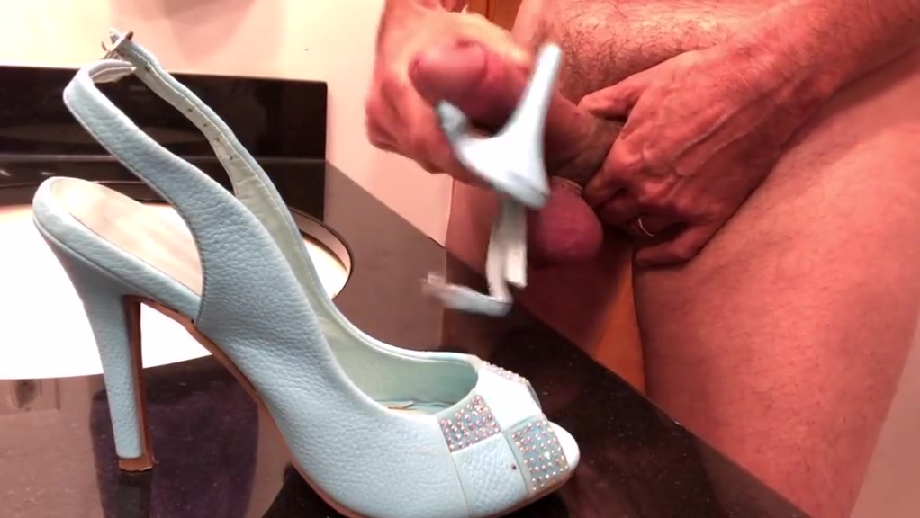 Kiss & Tell Sling-back Heels alex grey double penetration