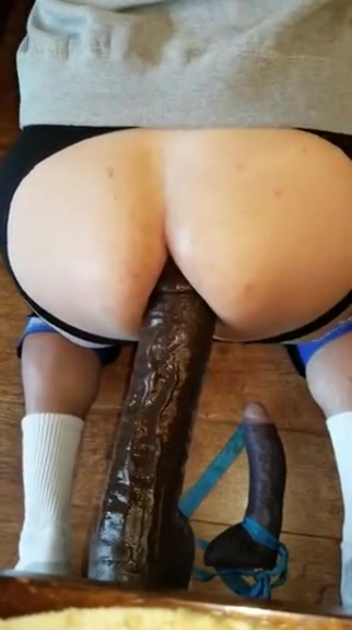 Analfunner2 doggy with bbc dildo