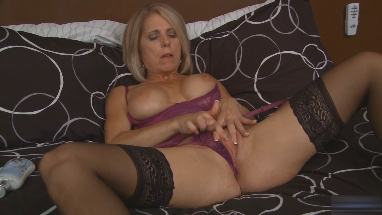 Blonde mother id like to fuck masturbates in darksome nylons Stimulating charming hotties needs