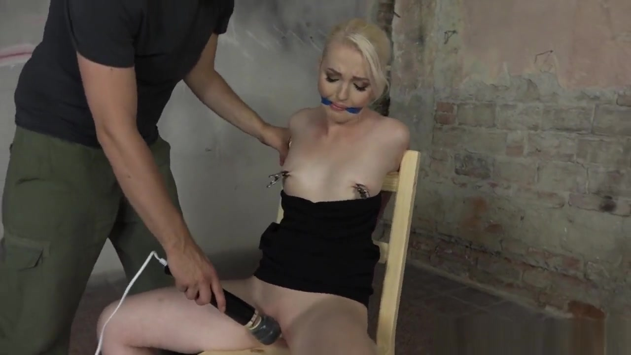 Gagged Blonde Bdsm Sub Toyed By Maledom Mature dress pictures