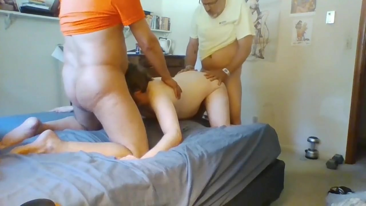 Slut Boy GAPED! Double dicked, bareback creampies! tila tequila fingering her pussy