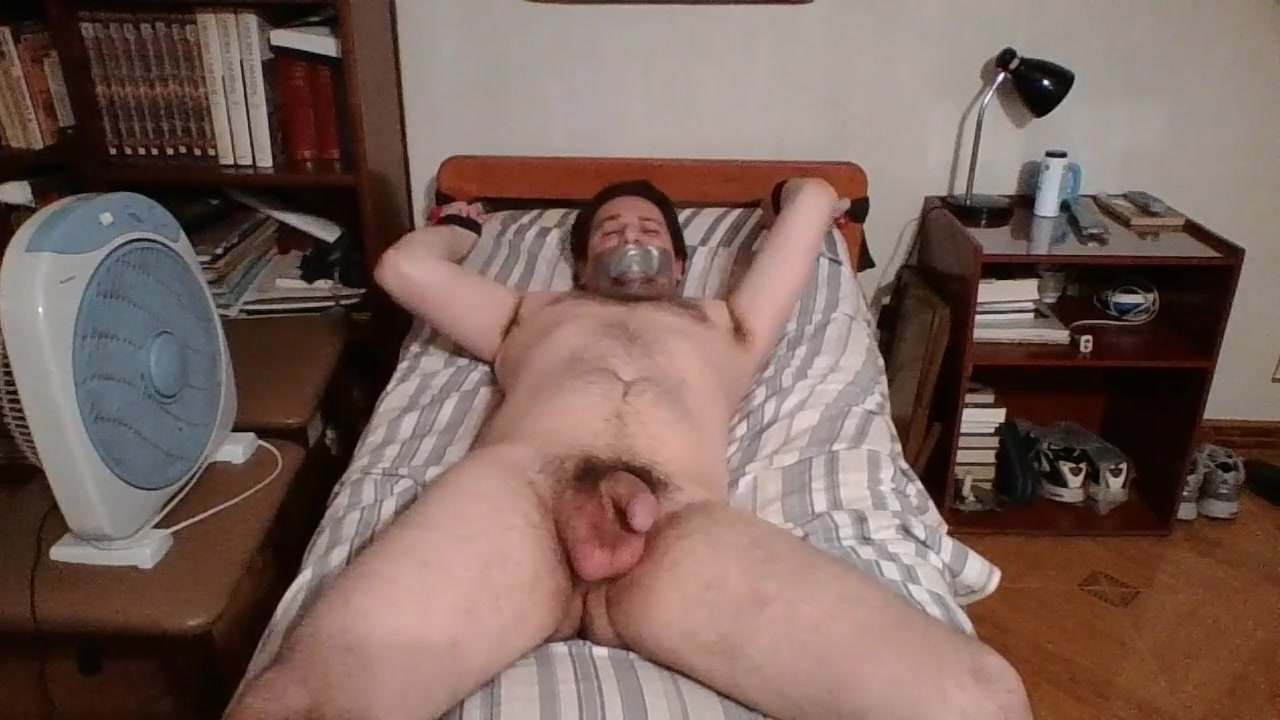 Martin Gagged and Bound Naked to Bed online sex games hentai