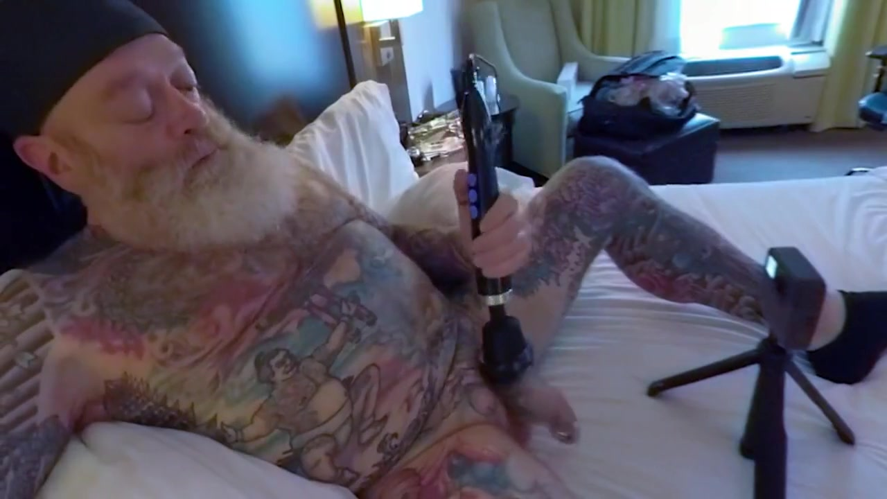 Inked Daddy Bear Doxy Wand and Sounding with Custom Silicone Sound Part 1 Fuck adult girls photo