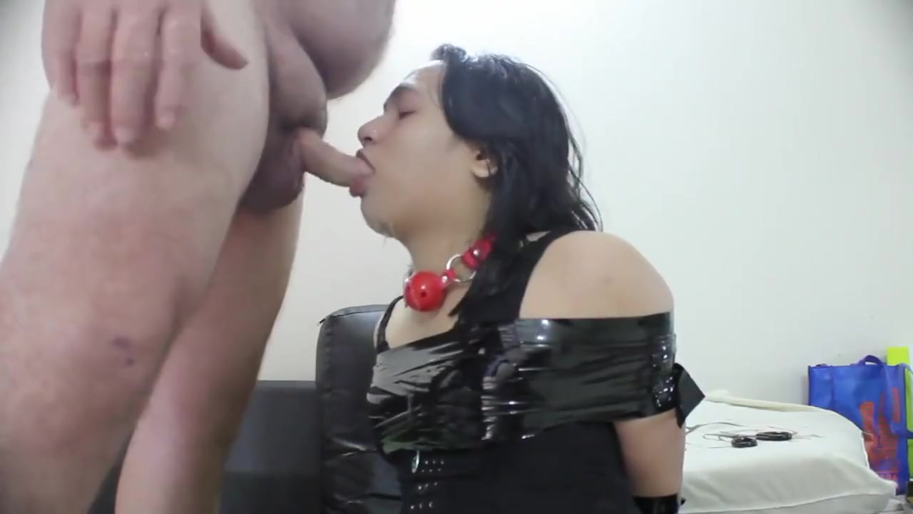 Asian boy get tied up, cumshot, facial and blowjob Teens play the doctor in school