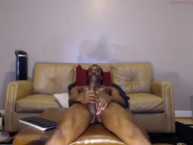 Sexy black Anthony Hamilton looking guy jerks off sex porn nicki minaj