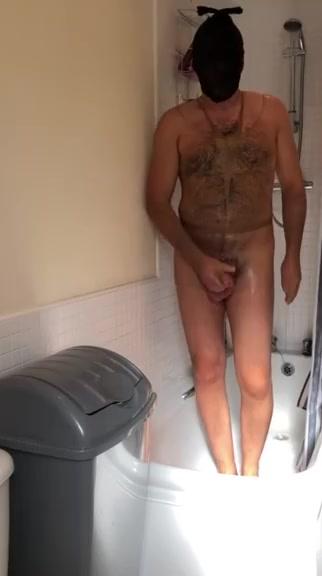Taking shower wearing pantyhose :) arab granny show pussy