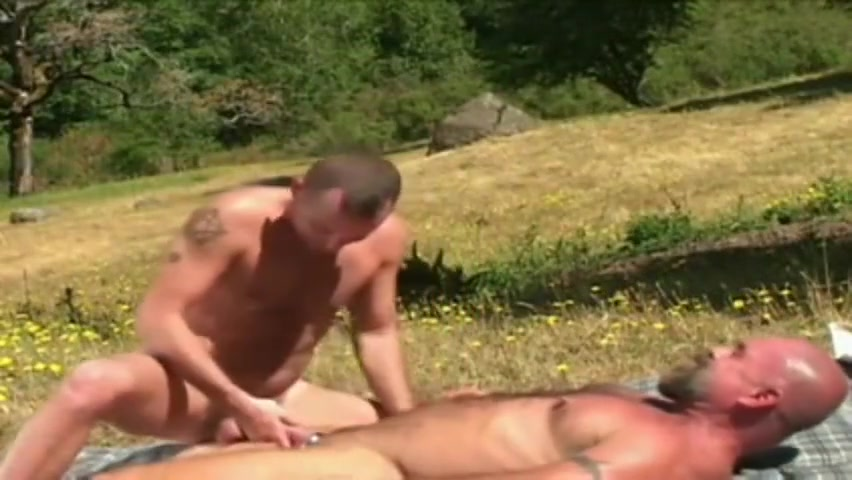 Masculine trucker daddy cums inside hot young stud Hairy milf series