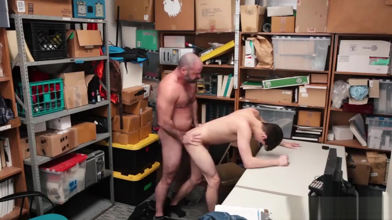 Gay police nude xxx gallery big penis sex video of the Loss Prevention grandma gagging on cock