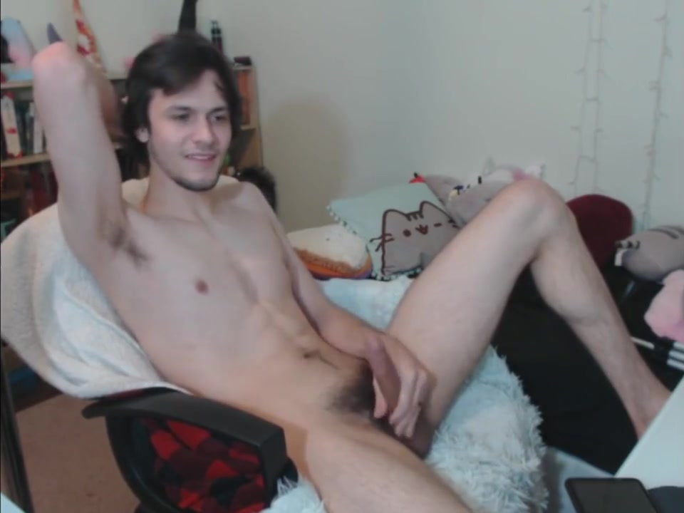 Handsome married guy cum on webcam show puffy nipples on beach