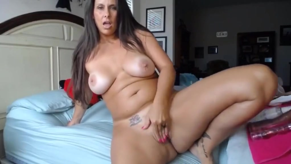 Curvaceous cougar housewife with pink tight twat and huge ti severe tongue and cheek pain