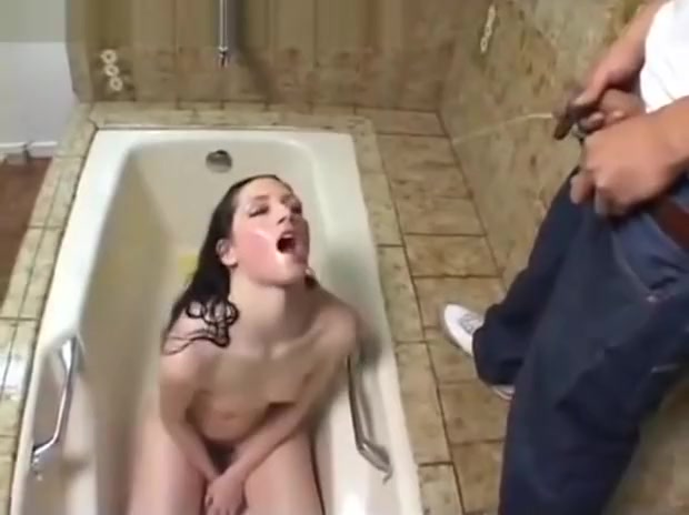 Teen take a piss bath and drink piss