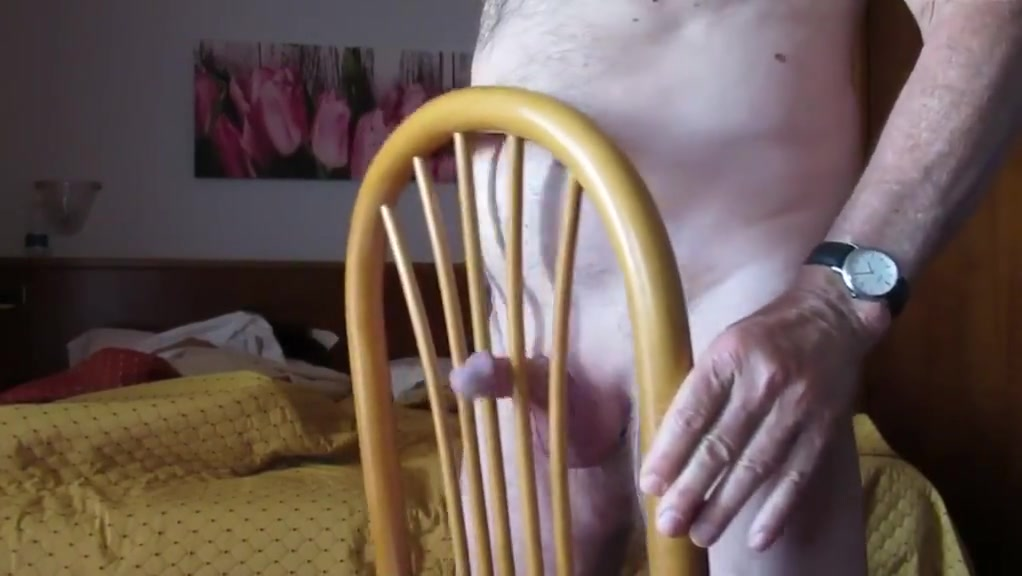 jerking on chair Giant natural boobs pov