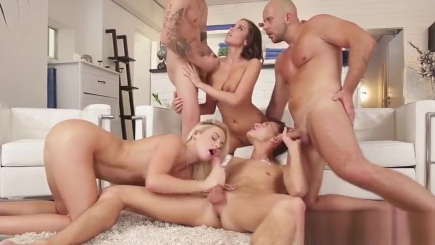 Bi group hunks cum spray Sadomasochism lovers watch this
