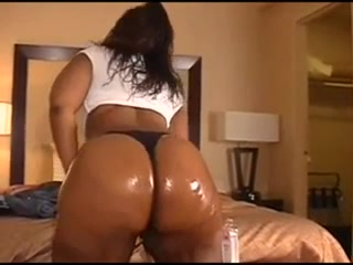 Big Booty World - Big black oiled ass Charley chase on the set