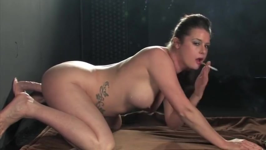 Karina Currie - Fucks a Dildo and Smokes Strong Corked Cigarettes BDSM dominatrix spanking male sex slave