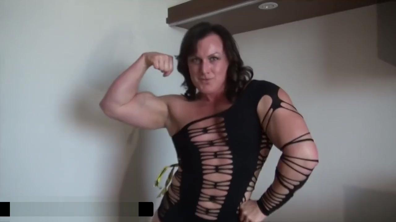 Strong muscular Biutful women naked wife massage