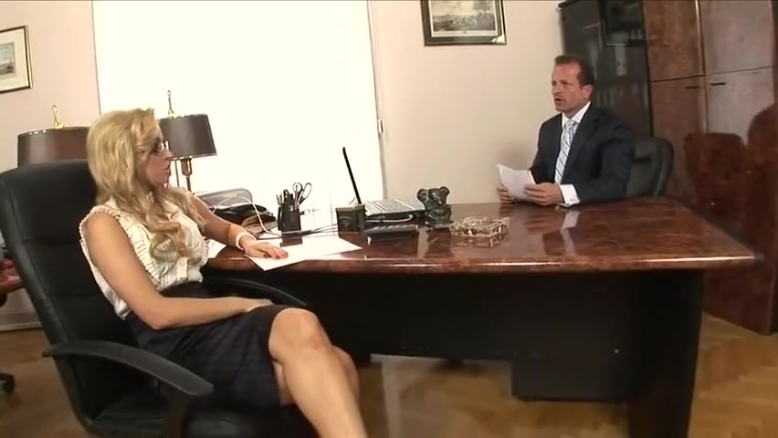 Sexy secretary nailed by office manager