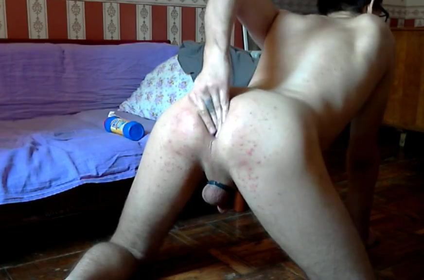 Resla Sissy playing with ass fist and toy (part 1) I shot myself mature
