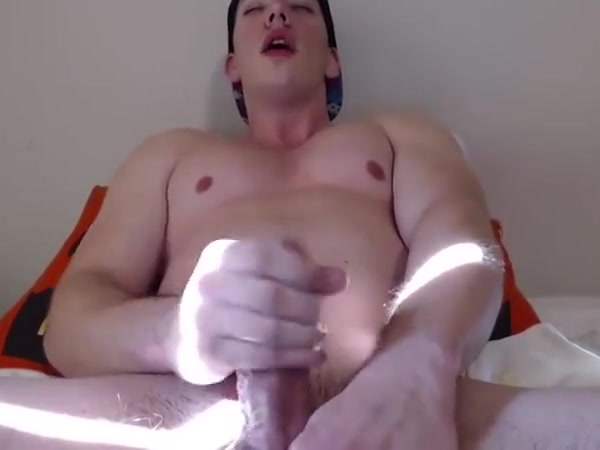 Beefy Straight Muscle Guy Wanking On Webcam Cock holder underwear