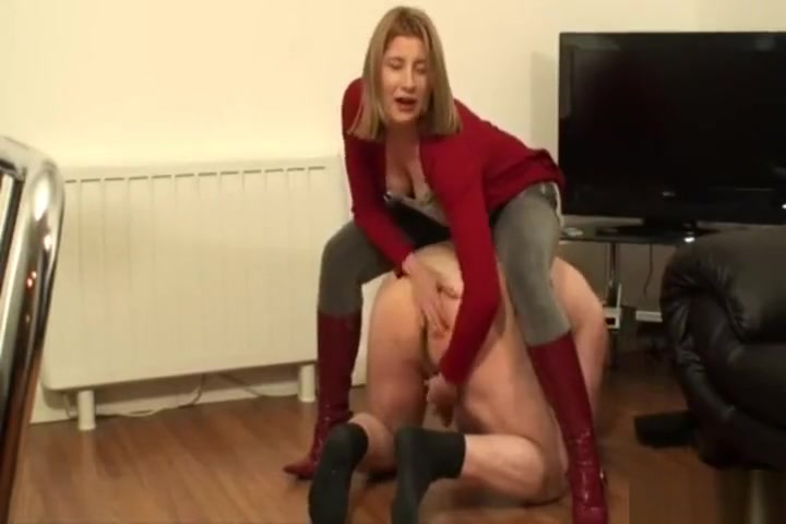 Girl boots trample ball