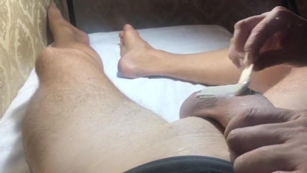Brazilian Waxing of a Big Cock Part 3 She smacks my big Dick Hot Chubby Mom